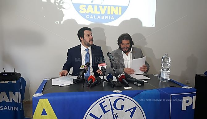 Lega, Salvini in Calabria