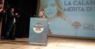 Giorgia Meloni a Cosenza