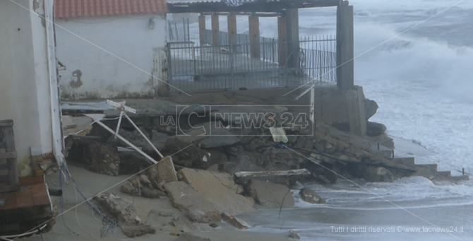 Alcuni danni delle mareggiate