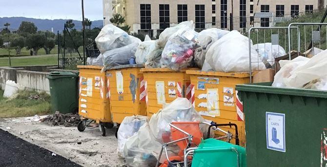 Parte dei rifiuti alla Cittadella
