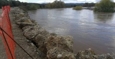 Il fiume Crati ingrossato