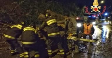 Maltempo a Lamezia, vigili del fuoco al lavoro