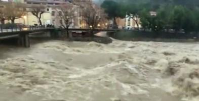 Maltempo, torrente Nervia esonda nell'Imperiese - Foto Ansa