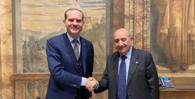 da sinistra Massimiliano Giansanti, presidente di Confagricoltura e Francesco Samengo, presidente Unicef Italia