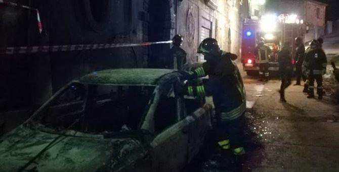 I vigili del fuoco intervenuti