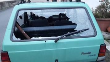 Trebisacce, l'auto danneggiata