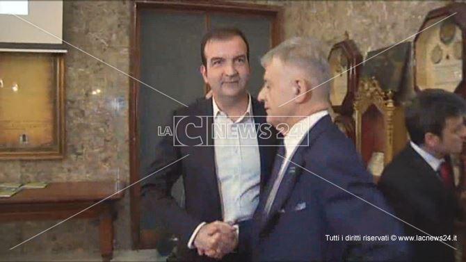 Mario Occhiuto con l'ex ministro dell'ambiente Corrado Clini
