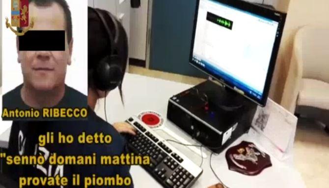Un frame dei video della polizia