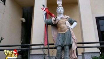 La statua di Sant'Agazio a Guardavalle
