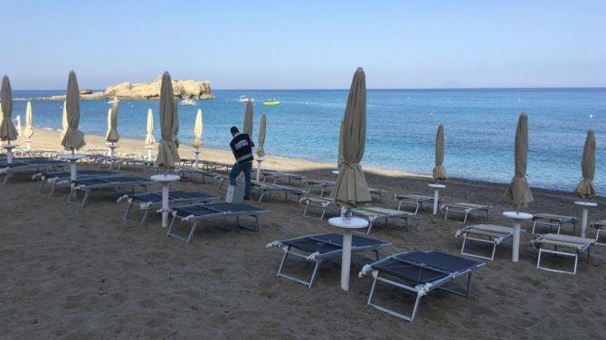 Lidi sequestrati lungo la costa del Vibonese