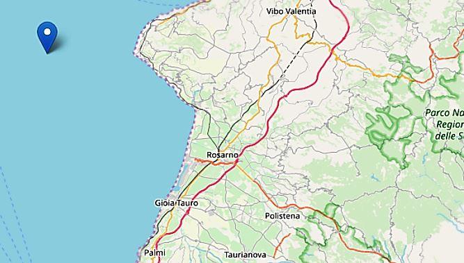 Terremoto al largo di Capo Vaticano