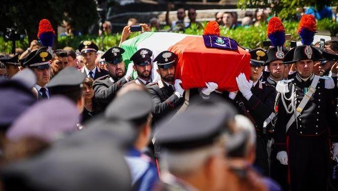 I funerali del carabiniere ucciso a Roma