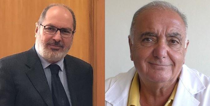 Nella foto, l'ex direttore generale dell'Asp di Cosenza, Raffaele Mauro, e il direttore sanitario Vincenzo Cesareo