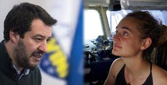 Matteo Salvini e Carola Rackete