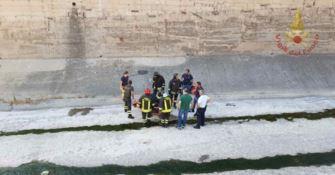 Donna precipita nel fiume Calopinace a Reggio, salvata