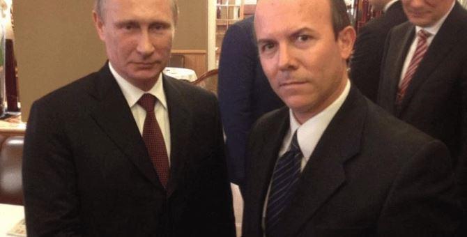 Vladimir Putin e Gianluca Savoini