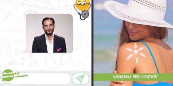 Consigli per l'estate, il WhatsApp di Antonio Soverina
