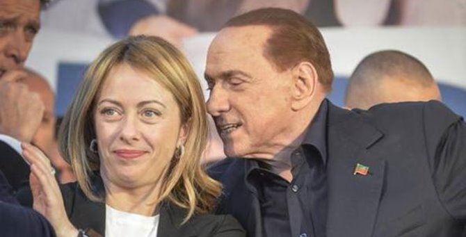 Giorgia Meloni e Silvio Berlusconi