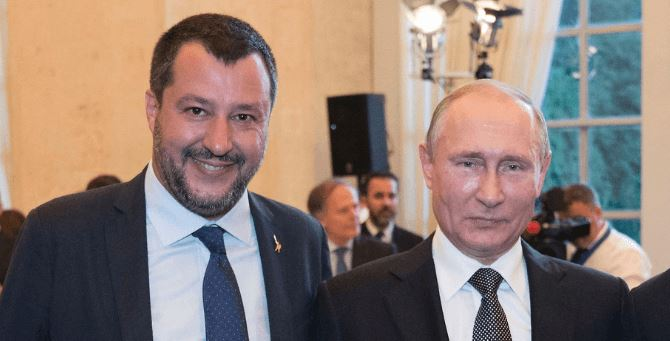 Matteo Salvini e Vladimir Putin