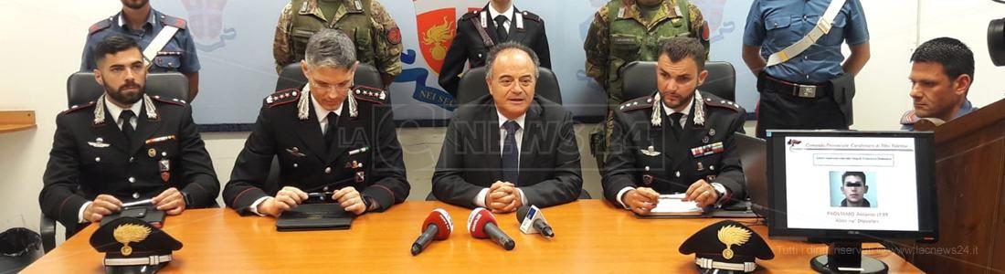 Conferenza stampa omicidio Vangeli