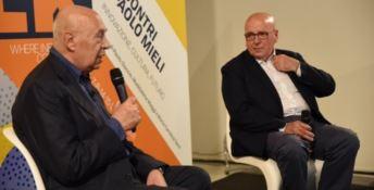 Paolo Mieli e Mario Oliverio a Spoleto nel 2018