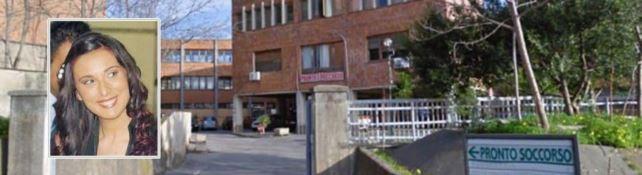 L'ospedale di Cetraro e nel riquadro Santina Adamo