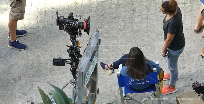 Vanessa Incontrada sul set a Tropea