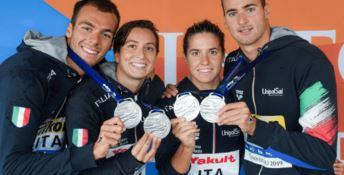 Mondiali Nuoto: Italia d'argento nella staffetta mista