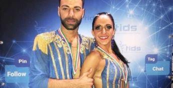 Coppia cosentina campione d'Italia di danze caraibiche