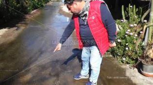Perdita d'acqua a Gioia Tauro