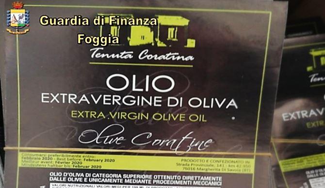 Olio di semi con clorofilla venduto per extravergine