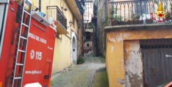 Balcone pericolante a Cosenza