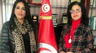 Il segretario Sarah Yacoubi e il console Beya Ben Abdelbaki