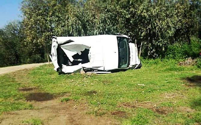 Soriano, il furgone sventrato nel corso del raid