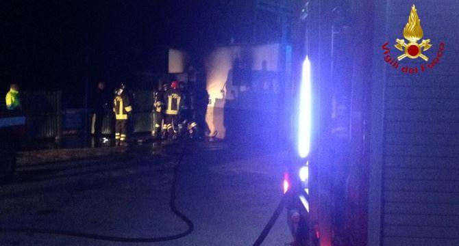 L'incendio nell'azienda
