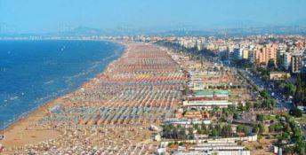 Una veduta aerea di Rimini