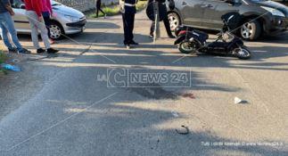 Rende, scontro tra un'auto e uno scooter: un ferito