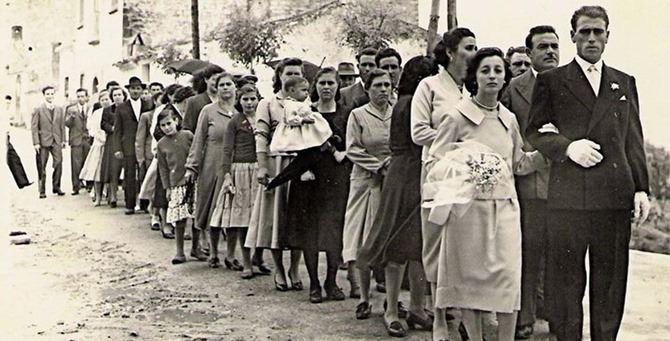Un matrimonio degli anni '50