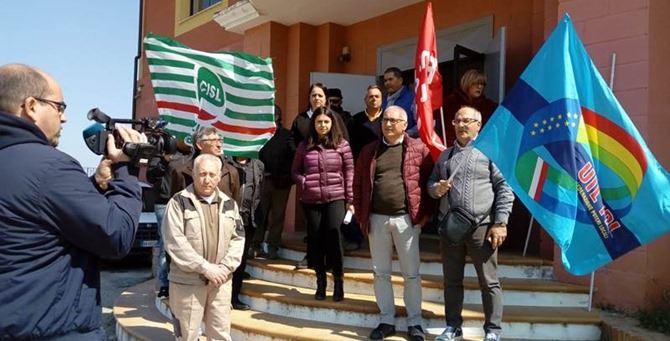 La manifestazione di protesta a Vibo