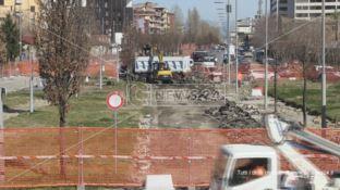 Il cantiere per la metro a Cosenza
