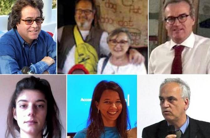 Sette delle otto vittime italiane (foto ansa)