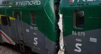 Scontro frontale tra treni sulla linea Milano-Asso, feriti