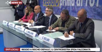 La conferenza stampa del centrodestra a Reggio