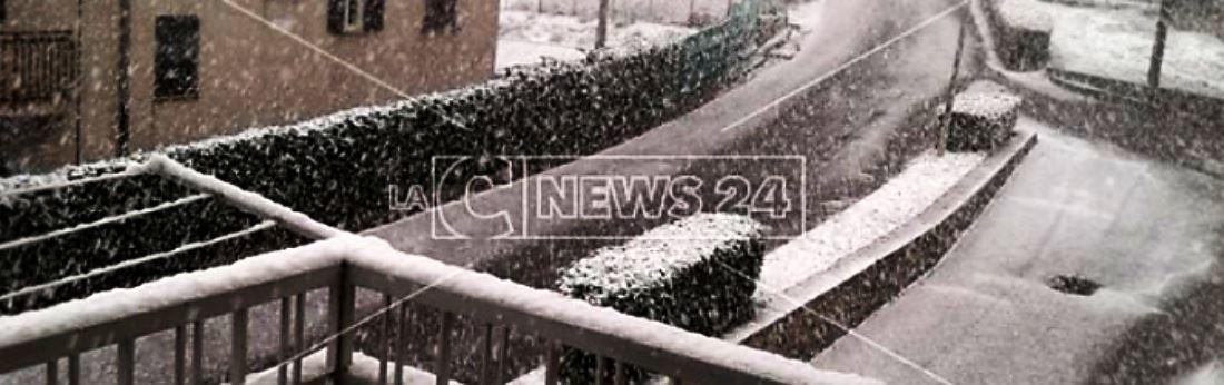 Nevica nel Cosentino