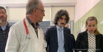 Il ministro Grillo all'ospedale di Polistena