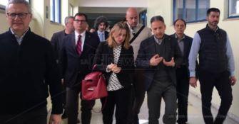 Il ministro Grillo all'ospedale