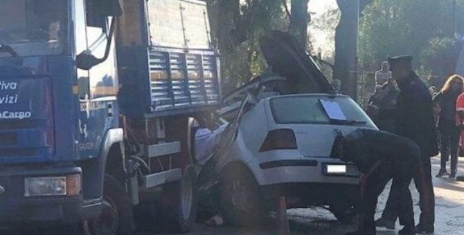 L'incidente a Galatone (foto TeleRama)