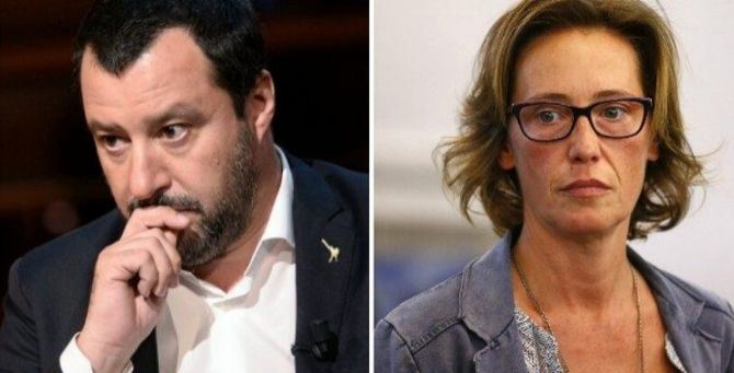Matteo Salvini e Ilaria Cucchi