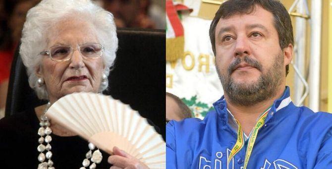 Liliana Segre e Matteo Salvini
