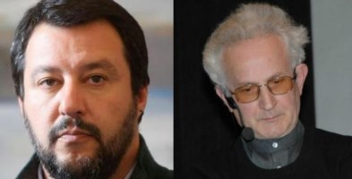 Matteo Salvini e Don Giorgio Capitani